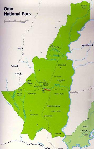 Parque Nacional del Omo Etiopía