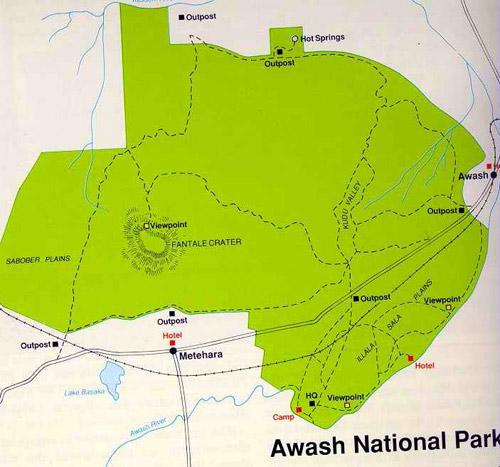 Parque Nacional de Awash Etiopía