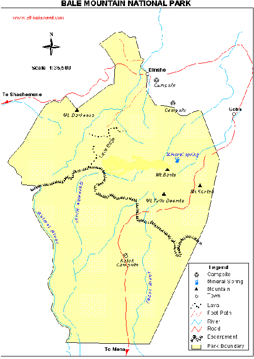 Parque Nacional de Bale Etiopía